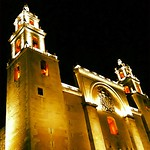 The cathedral, another beautiful night in #Merida #Yucatan #Mexico