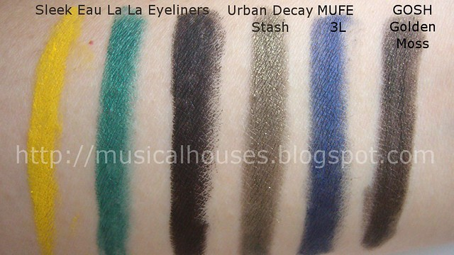 Skee Eau La La Eyeliner Comparison Swatches