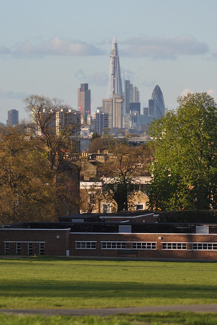 Shard and City from Brockwell Park