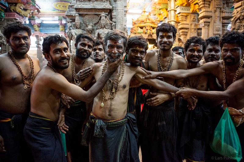 Pilgrims in Madurai