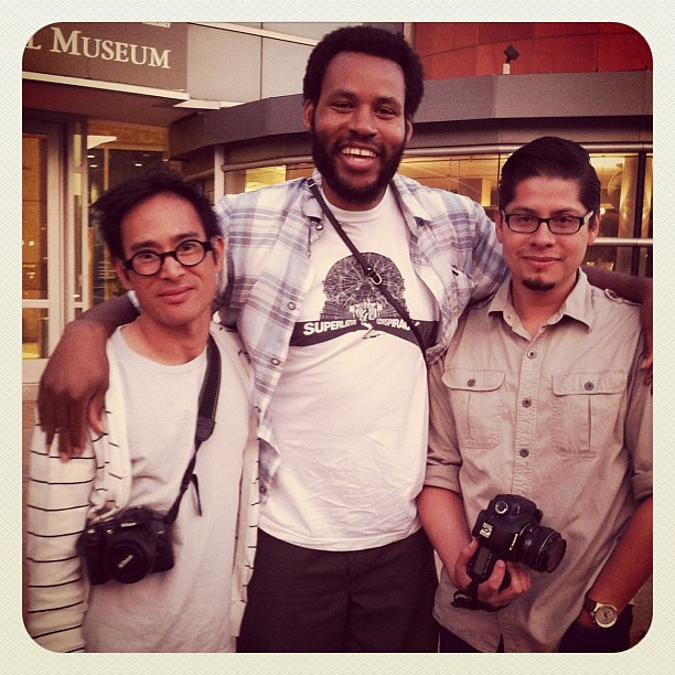 Love running into friends, musician, photographer, pro-skater, Ray Barbee and Robert!