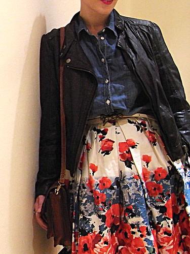 falda flores primark