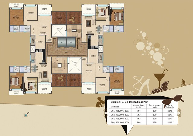 Kolte-Patil Downtown - Langston, 2 BHK Flats, for All Inclusive Property Price of Rs. 62 Lakhs Onward, at Kharadi, Pune 411014-7