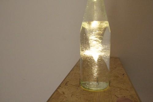 Water in a bottle...