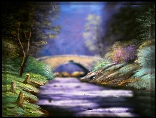 Troubled bridge   Oil Painting