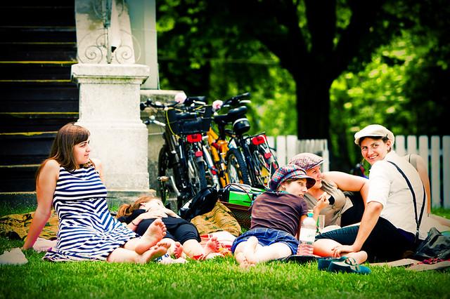 Fahrrad Picknick