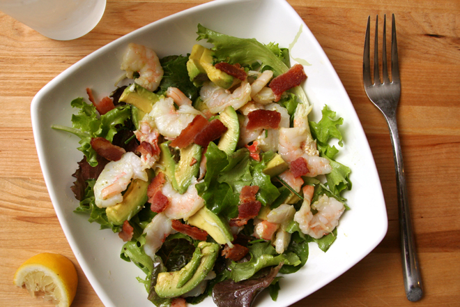 shrimp avocado salad 4