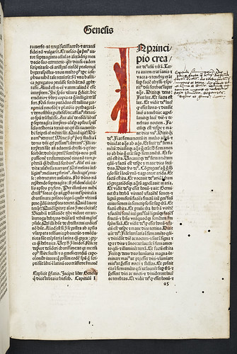 Manuscript annotations in Biblia latina