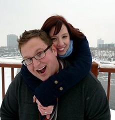 Eric and Megan on bridge