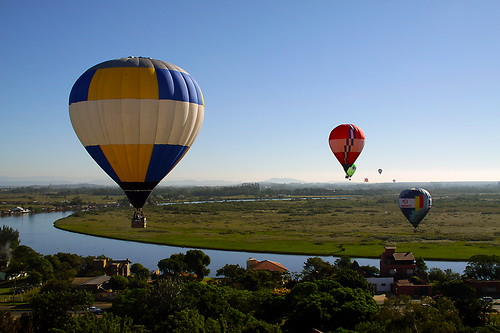 Ballooning in the sky Torres. Rio Grande do Sul - Brazil.