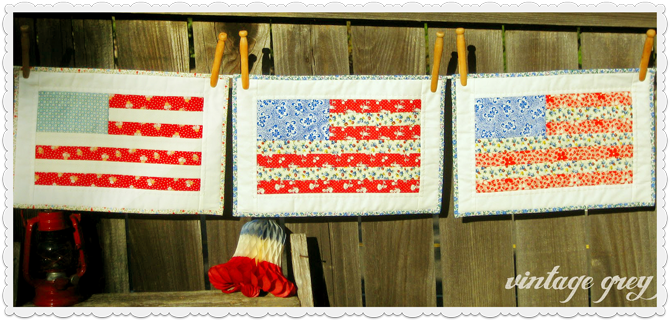 Pretty DIY - Vintage Flag Quilts