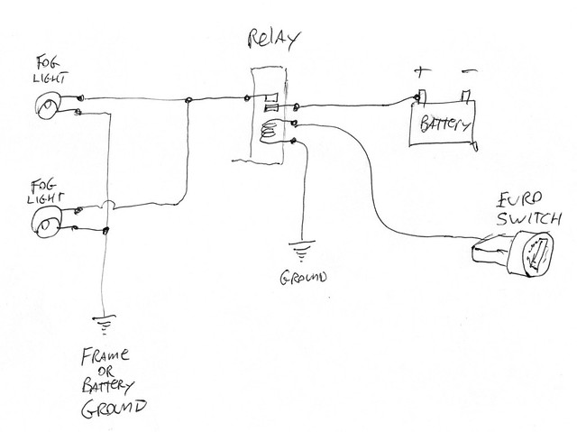 fog lights page 2 Through Fog Light Relay Wiring use this switched power to trigger a relay have the relay switch power on off from the battery to the fog lights fog light relay wiring diagram