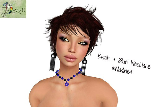 Black & blue necklace Nadine (not free) by Cherokeeh Asteria