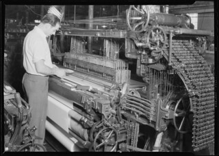 Textiles. Wishnack Silk Company. Fancies being woven, June 1937