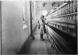 One of the little spinners working in Lancaster Cotton Mills. Many others as small, December 1908