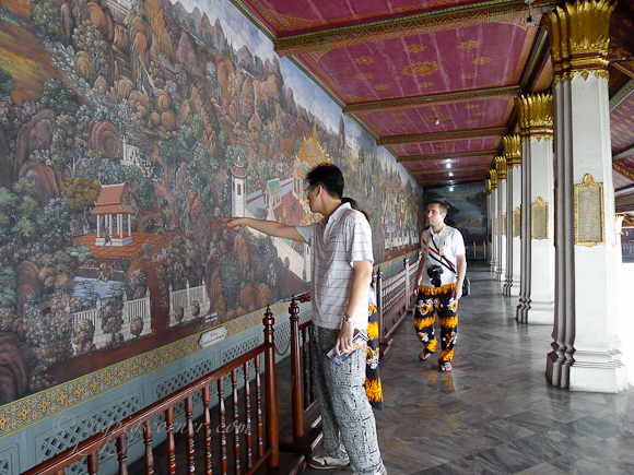 The Grand Palace Bangkok wall paintings