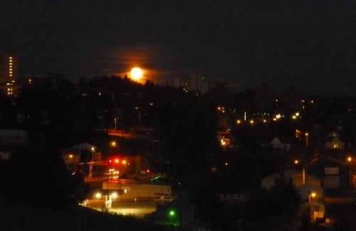 Moon over Pullman WA