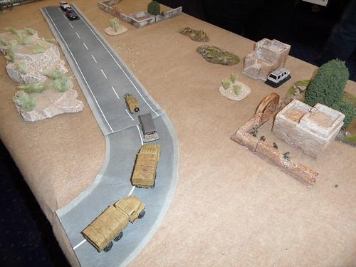 Convoy turns corner