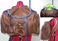 clothing(0.0), outerwear(0.0), jacket(0.0), bag(1.0), textile(1.0), brown(1.0), handbag(1.0), maroon(1.0), leather(1.0), backpack(1.0),