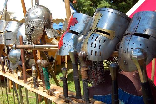 Armor helmets, Renaissance Festival