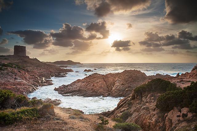 Italy-Sardegna-Isola Rossa Sunset