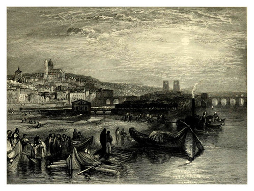 032-Melun-Wanderings by the Seine from Rouen to the source 1835- Joseph Mallord W.Turner