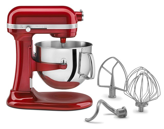 Red Kitchen Aid 7-quart stand mixer