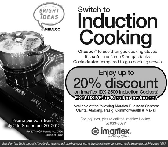 Meralco Discounted Imarflex Induction Cookers
