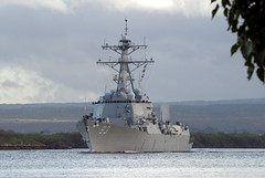 In this file photo, USS Chung-Hoon (DDG 93) departs Joint Base Pearl Harbor-Hickam for the at-sea phase of exercise Rim of the Pacific (RIMPAC) 2012. (U.S. Navy photo by Mass Communication Specialist 2nd Class Jon Dasbach)