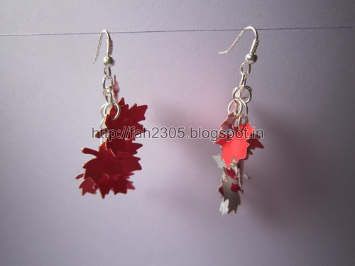 Handmade Jewelry - Paper Punch Earrings (1) by fah2305