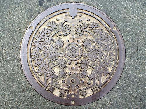 Nakagawa Uwa Ehime manhole cover (愛媛県宇和町中川のマンホール)