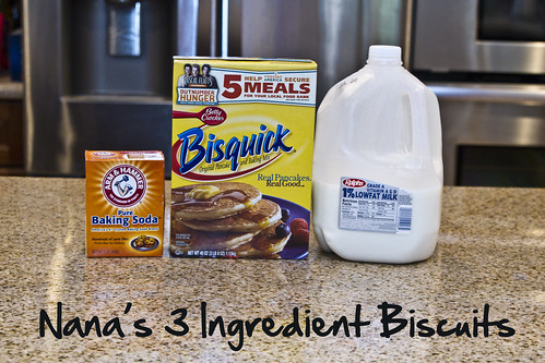 Nana's Three Ingredient Biscuits