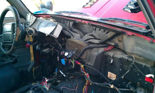 write up custom dashboard fabrication wire harness mod rh jeepforum com Jeep CJ Wiring Harness Jeep Liberty Trailer Wiring Harness