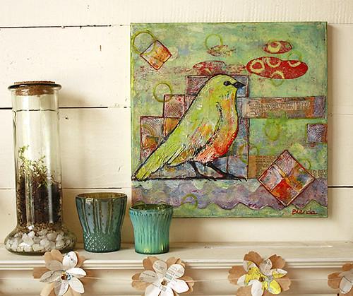 Minty Green Bird Wall Display