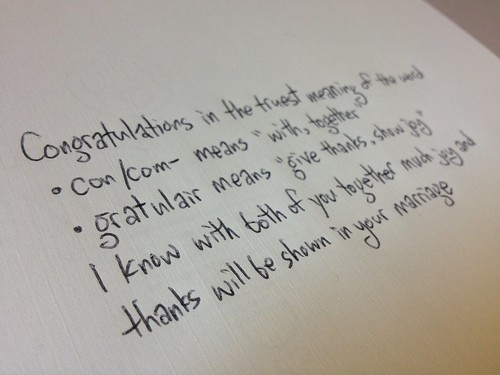 What To Write For A Congratulations Note In A Wedding Card