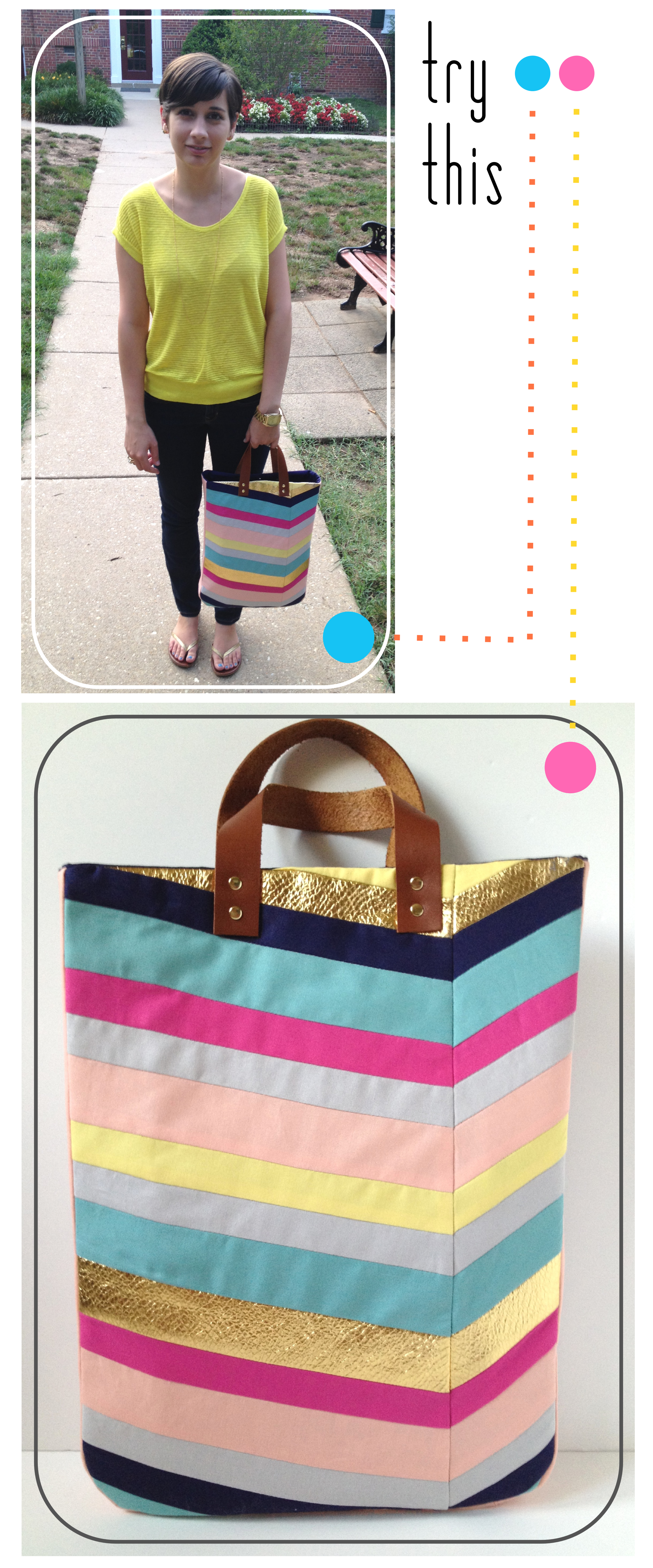 Try This - Art-Inspired Chevron Tote Bag