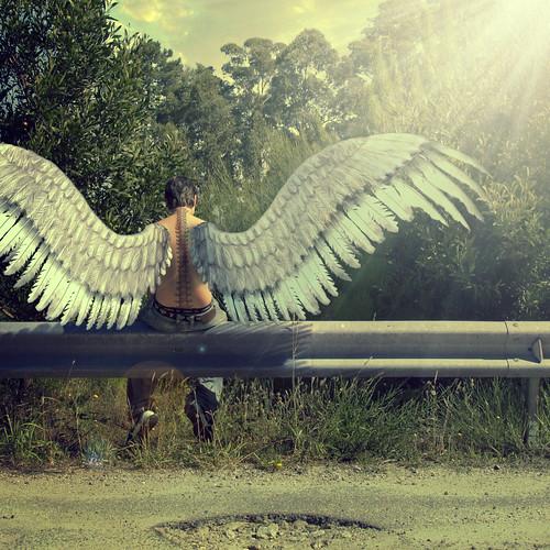 [フリー画像素材] グラフィック, フォトレタッチ, 男性, 天使・エンジェル ID:201208101800