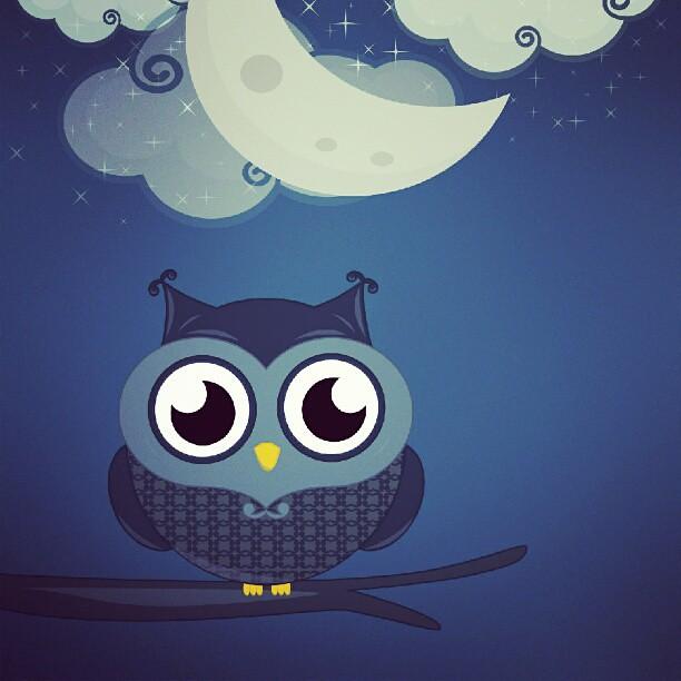 Búho Mareimperatrixado! :3 #buho #owl #moon #luna #ilustracion # ...