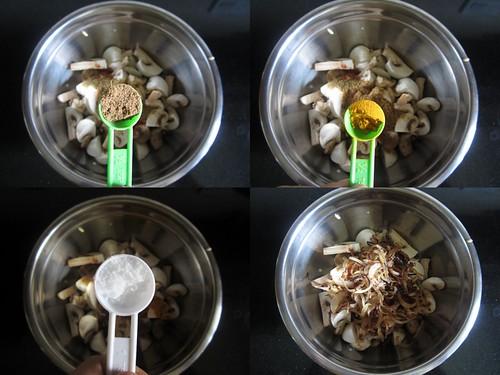 Chettinad Mushroom Biryani-step3