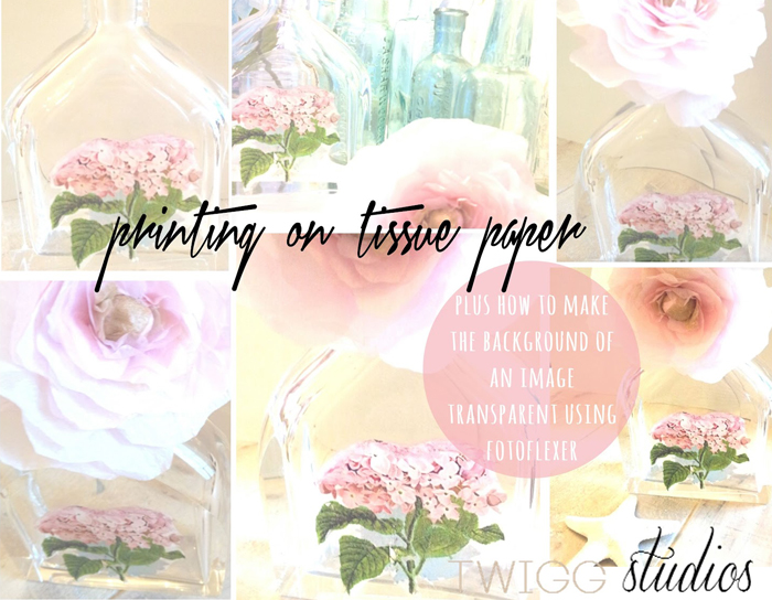 DIY how to print on tissue paper  by twigg studios