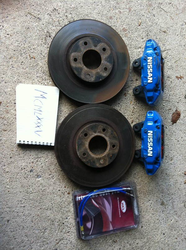 For R32 GTS-T Skyline Pair EBC Black Finish Grooved Front Brake Discs