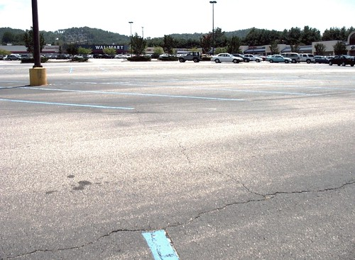 Walmart parking lot, Asheville, NC (by: FK Benfield)