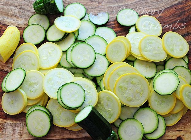 crisp squash and zucchini