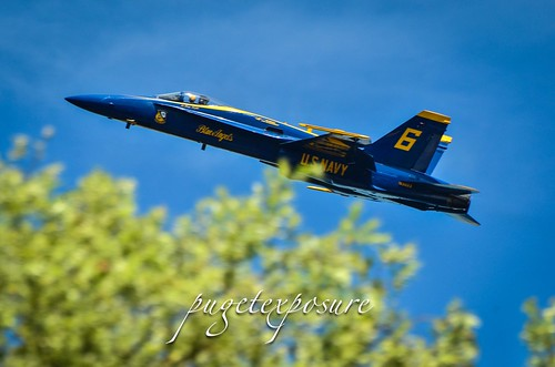 Blue Angel No. 6 heads west after the Solos Opposing Horizontal Rolls
