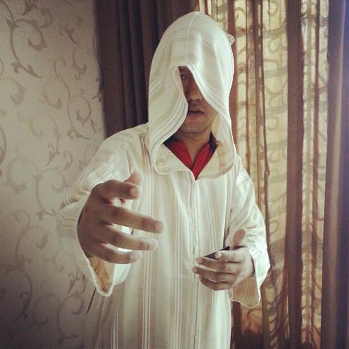 Model menggayakan jubah from Aabaya Palace. Konep: Misteri di Gua Hira'