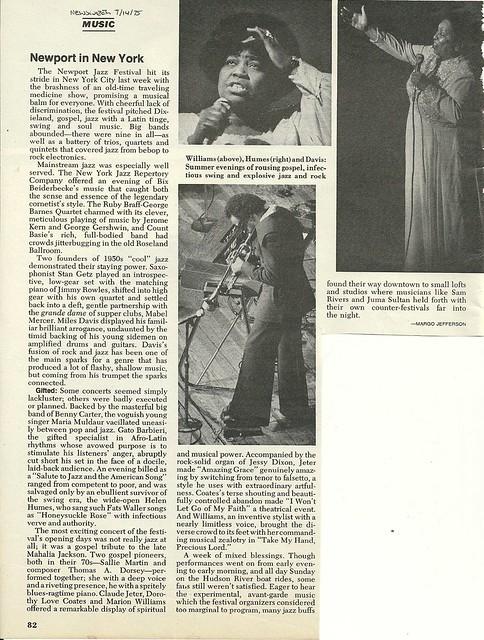 07/14/75 Newsweek Magazine (Newport Jazz Festival)