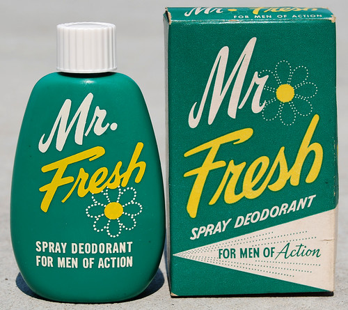 Mr. Fresh Spray Deodorant, 1950's by Roadsidepictures