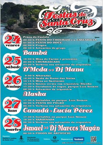 Oleiros 2012 - Festas de Santa Cruz - cartel