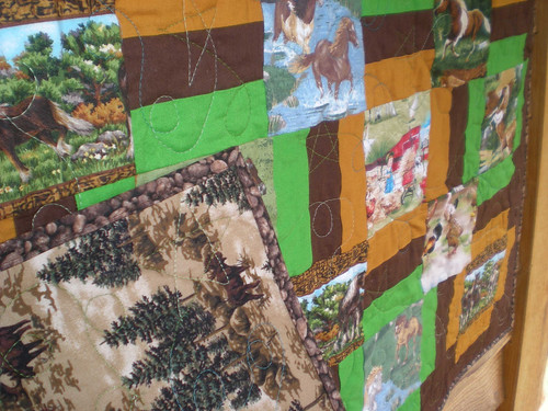 Farm wishes quilted close up