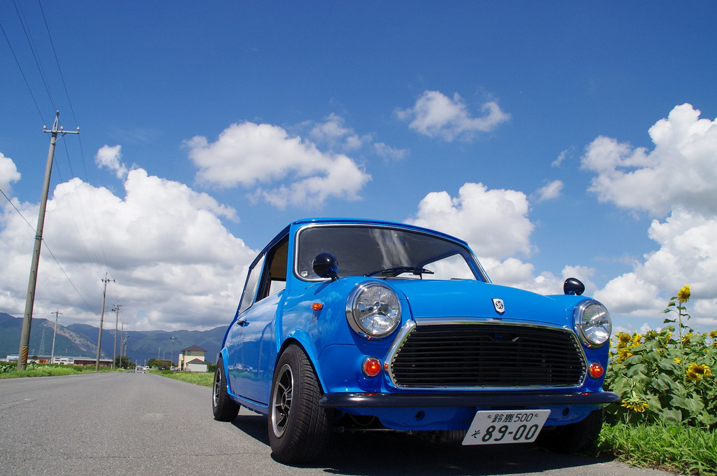 Blue sky and My Blue MINI
